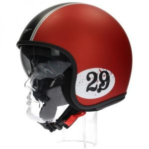 Jethelm - Moto Guzzi Jet Racing Red Matt